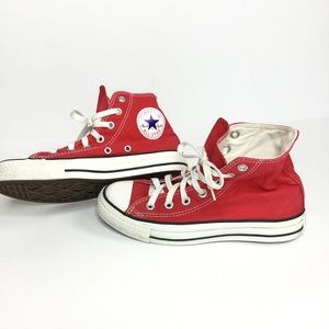 Red Converse High top all star chuck Taylor